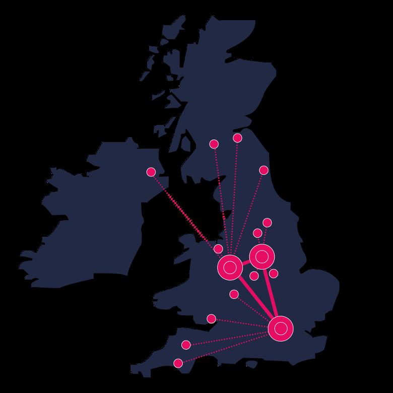 UK Network map